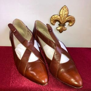 Ti amo Leather Vintage Heels